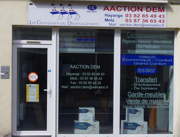 aaction dem devanture